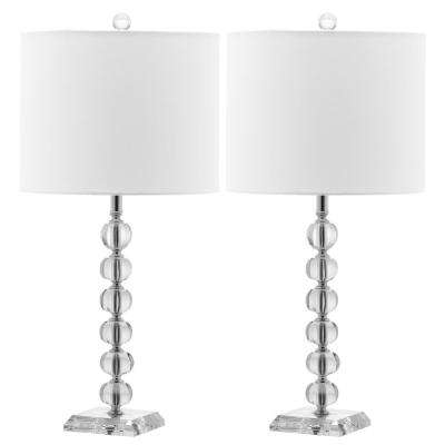 Victoria 25 in. Clear Crystal Ball Table Lamp (Set of 2)