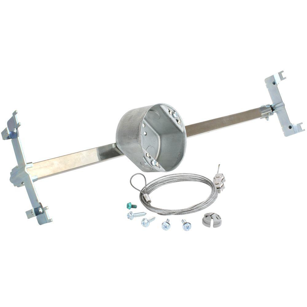 Commercial Electric 21.5 cu. in. Suspended Ceiling Brace with 2-1/8 ...