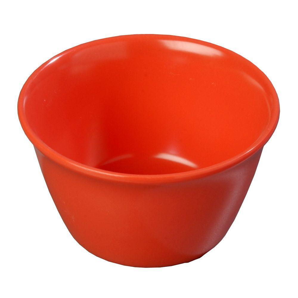 8 oz. 3.84 in. Diameter Sunset Orange Melamine Bouillon Cup (Case of 24)
