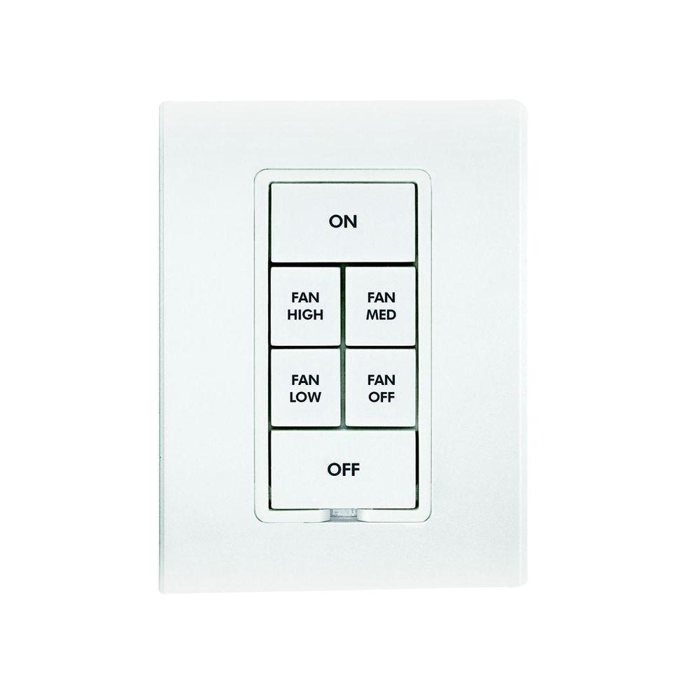 Fan Button Kit - White