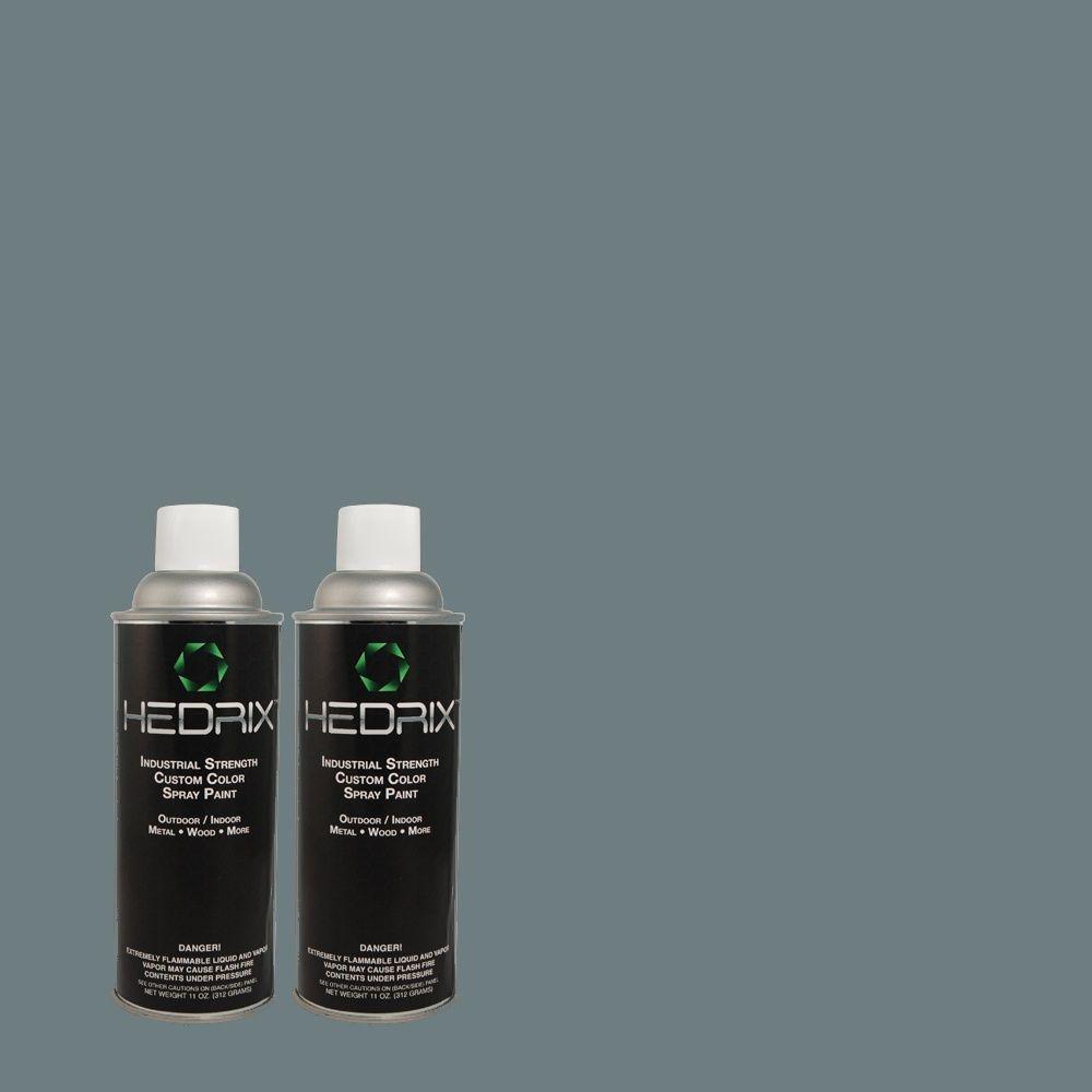 Hedrix 11 oz. Match of PMD-65 Ocean Shadow Gloss Custom Spray Paint (2-Pack)