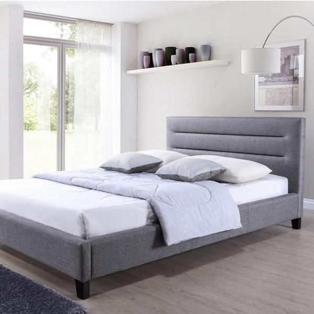 Baxton Studio Hillary Gray Full Upholstered Bed 28862-6196-HD