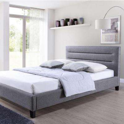 Hillary Gray King Upholstered Bed