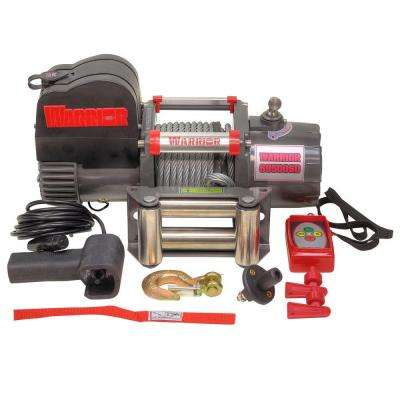9,500 lb. Capacity Short Drum 12-Volt Electric Winch with 45 ft. Steel Cable and Stainless Fairlead