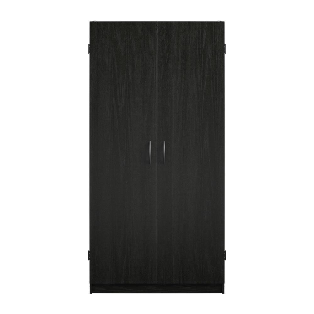 System Build Woodworth 60 in. Black Oak Storage Cabinet