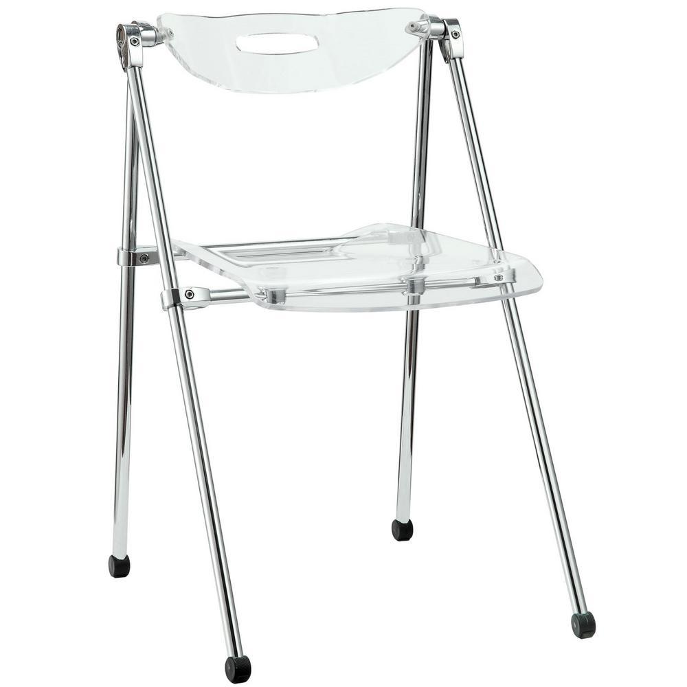 Clear Acrylic Foldable Folding Chair