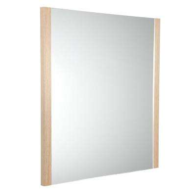 Torino 25.50 in. W x 31.50 in. H Side Framed Wall Mirror in Light Oak