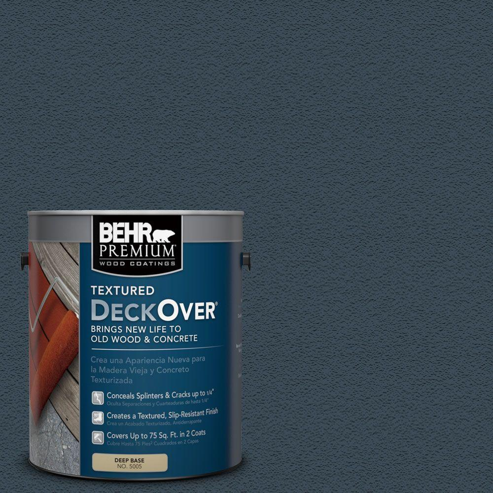 Behr Premium Textured Deckover 1 Gal Sc 101 Atlantic Solid Color Exterior