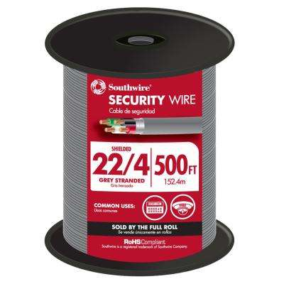 500 ft. 22/4 Gray Stranded CU CL3R Shielded Security Cable