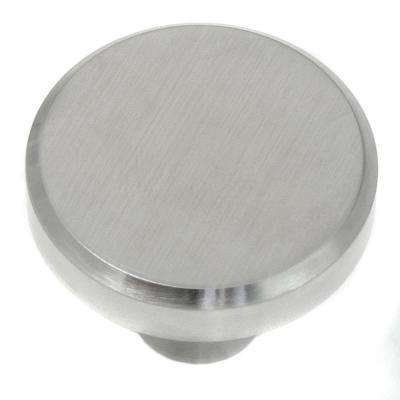 Brickell 1-1/2 in. Stainless Steel Large Flat Top Cabinet Knob