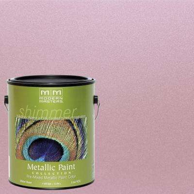 1 gal. Rose Water-Based Satin Metallic Interior/Exterior Paint