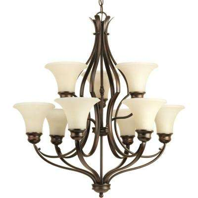 Applause Collection 9-Light Antique Bronze Chandelier with Shade
