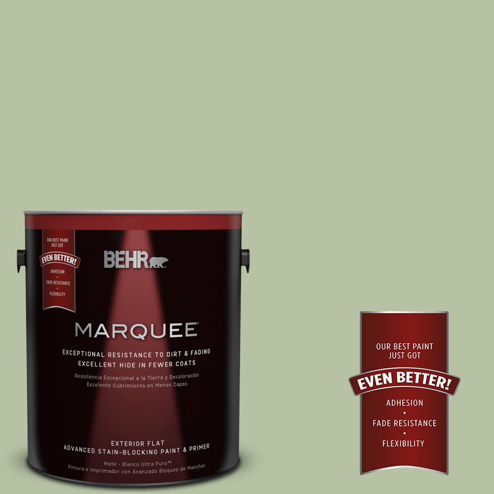 BEHR MARQUEE 1-gal. #M380-4 Chopped Dill Flat Exterior Paint