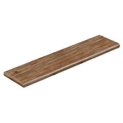 Walton Oak 47 in. L x 12-1/8 in. D x 1-11/16 in. H Vinyl Left Return to Cover Stairs 1 in. Thick