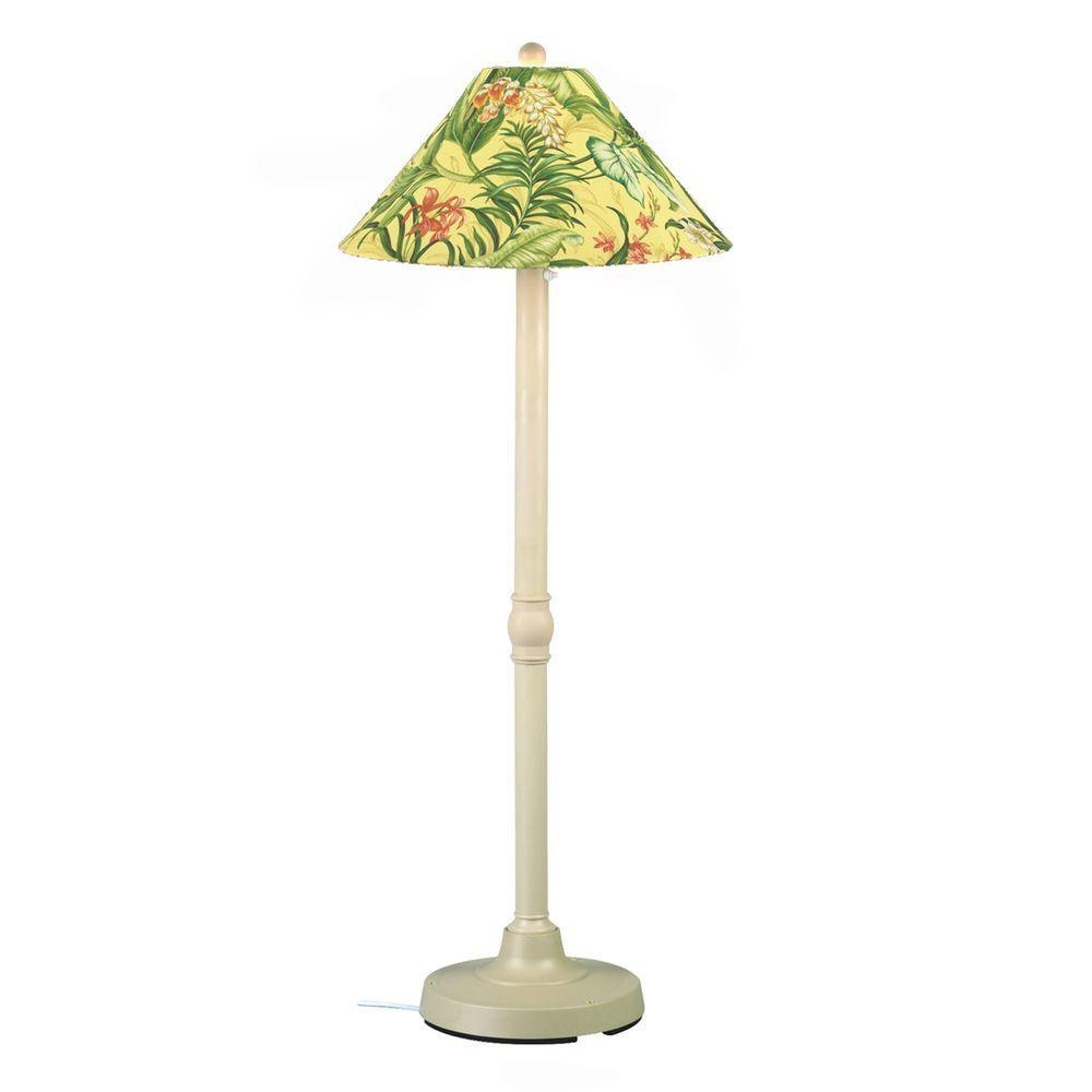 Patio Living Concepts San Juan 60 in. Outdoor Bisque Floor Lamp with Soleil Shade