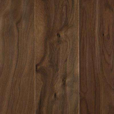 Natural Walnut 1/2 in. T x 5.25 in. W x Varying Length Soft Scraped  Engineered UNICLIC Hardwood Flooring (23 sq. ft.)