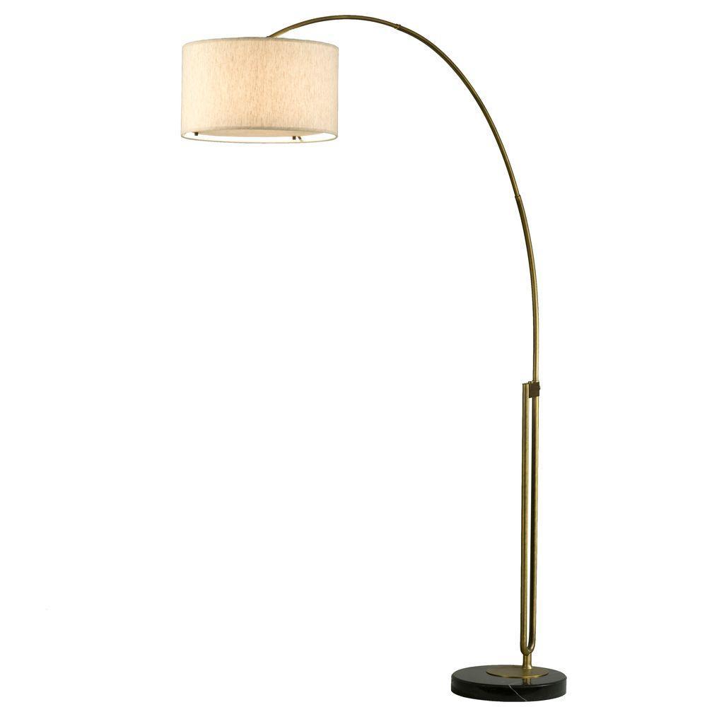 NOVA Astrulux 88 in. Weathered Brass Incandescent Arc Lamp