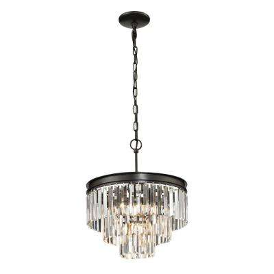 Lucerne Collection 4-Light Oil-Rubbed Bronze Pendant