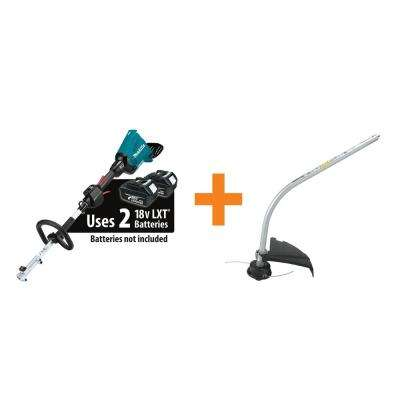 18-Volt X2 (36-Volt) LXT Brushless Cordless Couple Shaft Power Head (Tool Only) and Curved String Trimmer Attachment