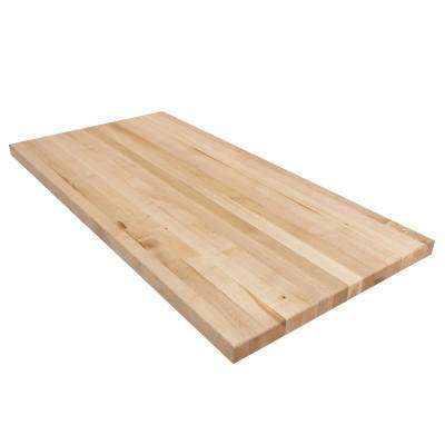 4 ft. L x 2 ft. D x 1.75 in. T Butcher Block Countertop in Finished Maple