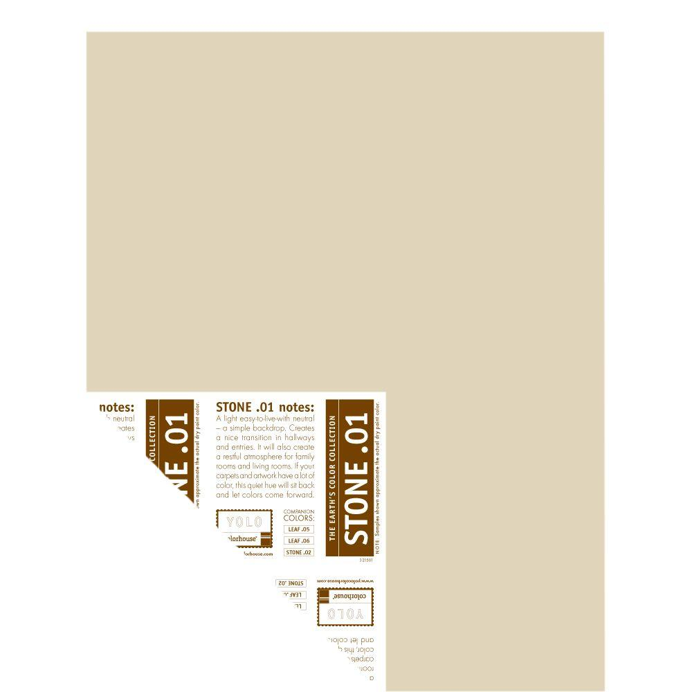YOLO Colorhouse 12 in. x 16 in. Stone .01 Pre-Painted Big Chip Sample