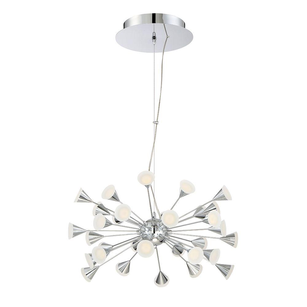 eurofase esplo collection 70 4 watt chrome integrated led chandelier