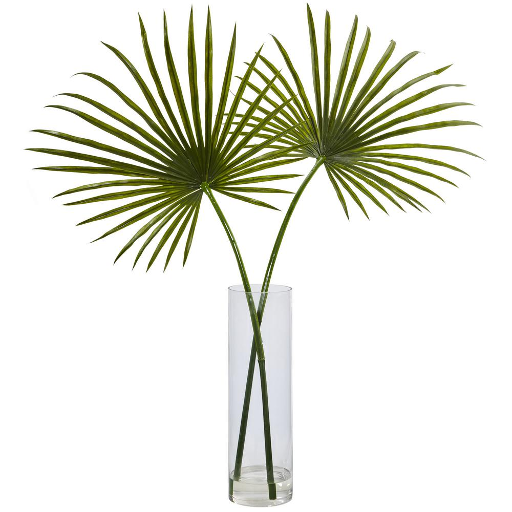 Nearly Natural Indoor Fan Palm Artificial Arrangement In