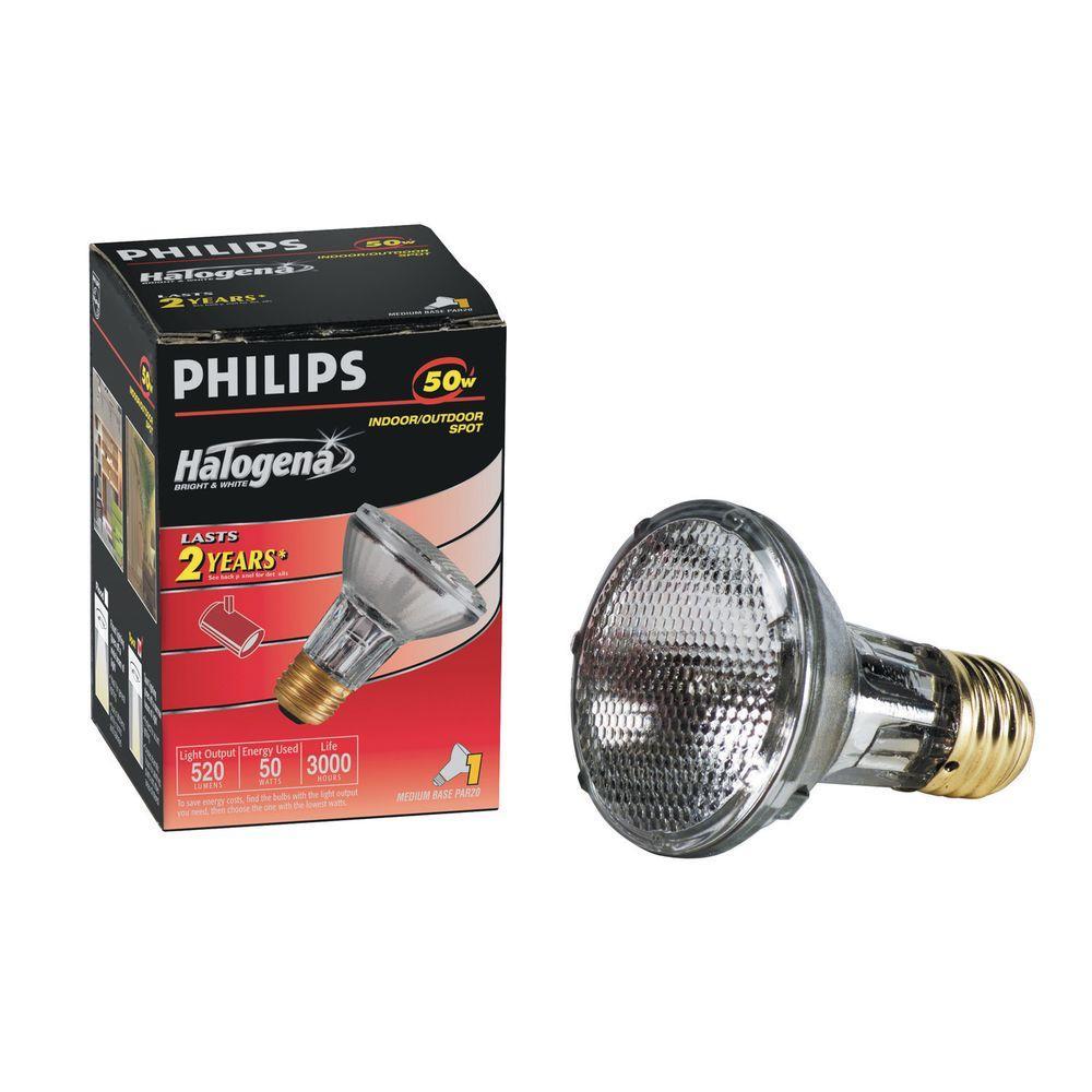 Philips 50-Watt Halogen PAR20 Spot Light Bulb (6-Pack)-DISCONTINUED