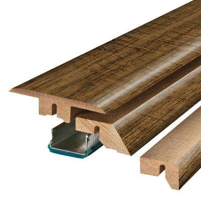 Chestnut Brown 3/4 in. Thick x 2-1/8 in. Wide x 78-3/4 in. Length Laminate 4-in-1 Molding