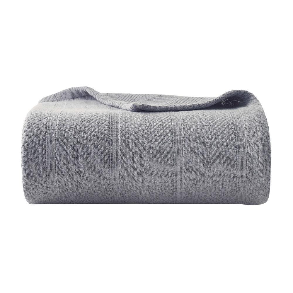 Eb Gray 100% Cotton Full/Queen Blanket