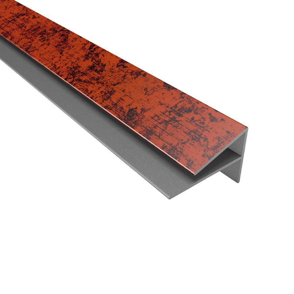 Fasade 4 ft. Large Profile Outside Corner Trim in Moonstone Copper