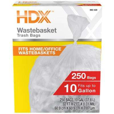 10 Gal. High Density Waste Basket Liner (250-Count)