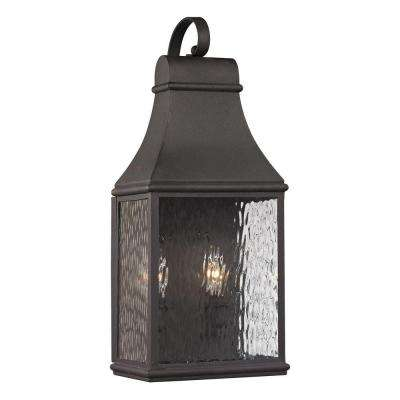 Worcester Forge Collection 2-Light Charcoal Outdoor Sconce