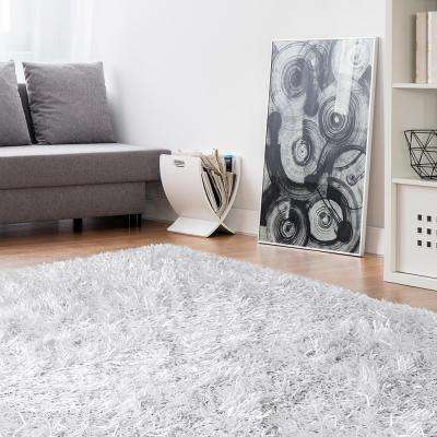 Electric Ave White 9 ft. x 12 ft. Area Rug