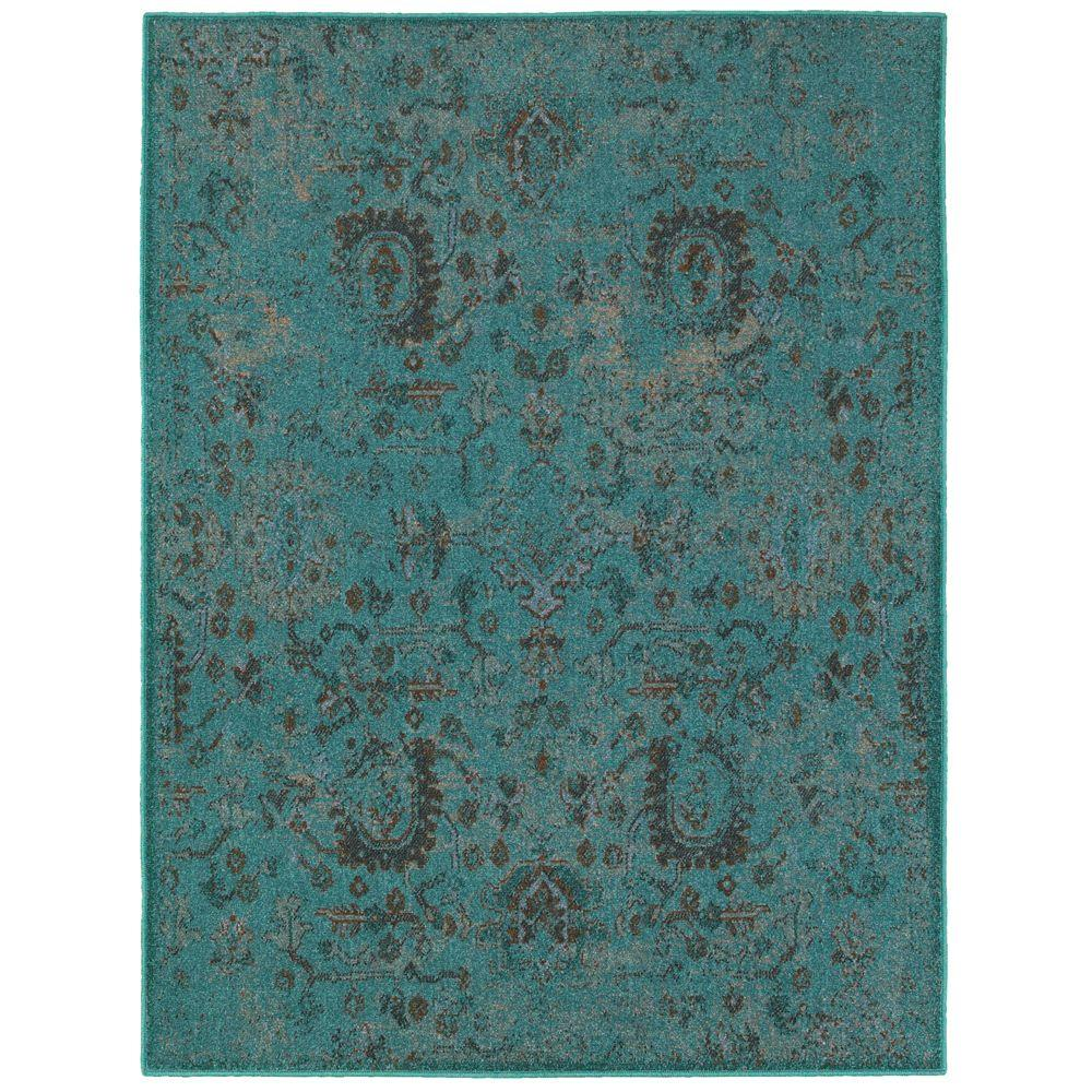 Overdye II Teal 7 ft. 10 in. x 10 ft. Area