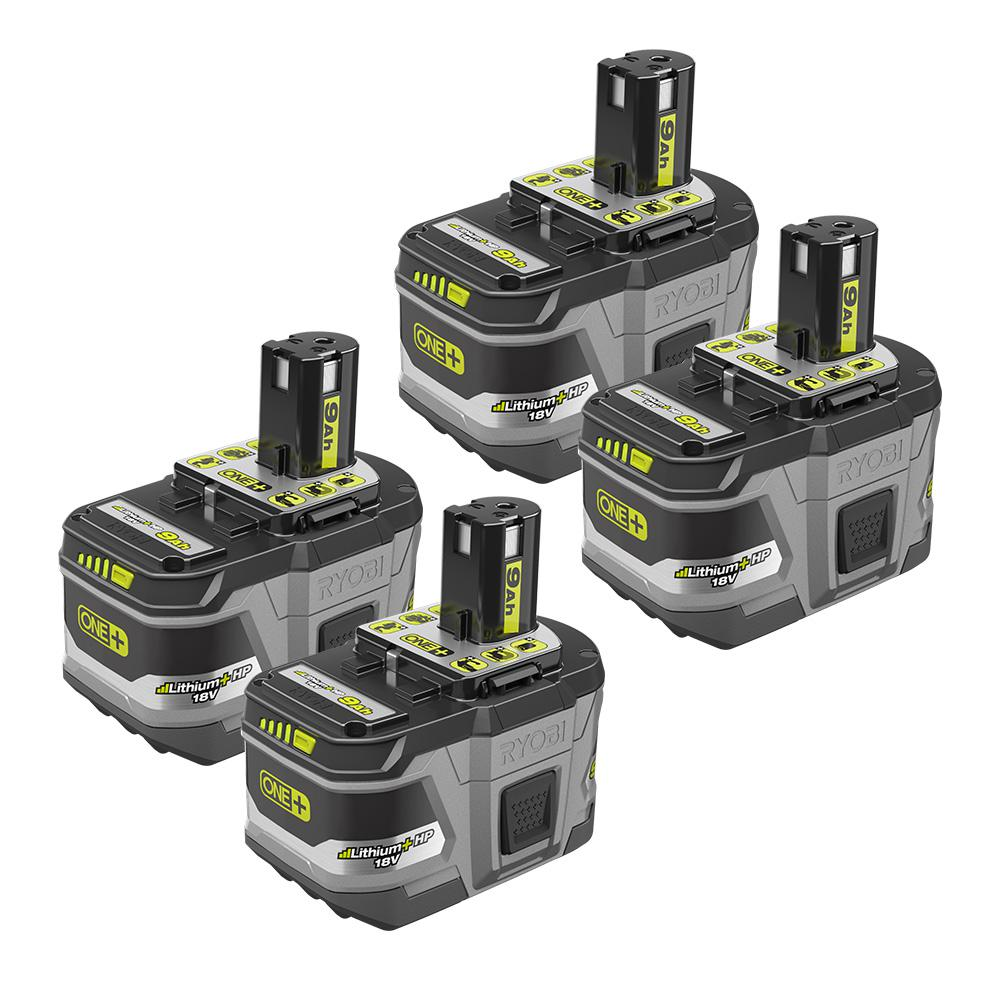 Ryobi 18 Volt One Lithium Ion Hp 9 0 Ah High Capacity Battery