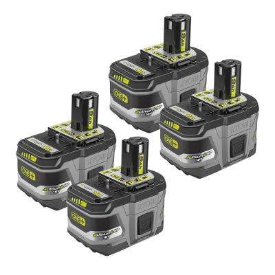 18-Volt ONE+ Lithium-Ion LITHIUM+ HP 9.0 Ah High Capacity Battery (4-Pack)