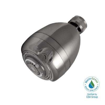 Earth Massage 3-Spray 2.6875 in. 2.0 GPM Fixed Shower Head in Brushed Nickel