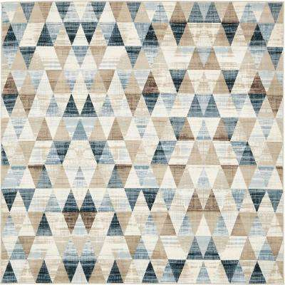 Mirage Beige 6 ft. x 6 ft. Square Area Rug