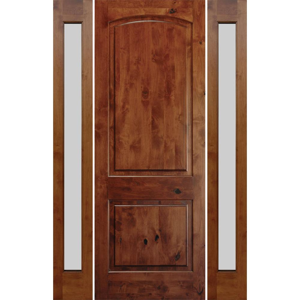 Krosswood Doors 70 In X 96 In Rustic Knotty Alder Unfinished Right Hand Inswing Prehung Front