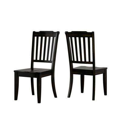 Sawyer 3-Piece Antique Black Mission Back Dining Set