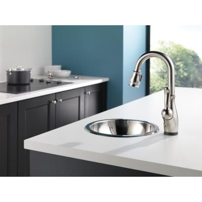 Leland Single-Handle Bar Faucet with Touch2O Technology in SpotShield Stainless