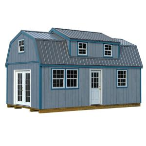 Lakewood 12 ft. x 24 ft. Wood Storage Shed Kit with Floor by