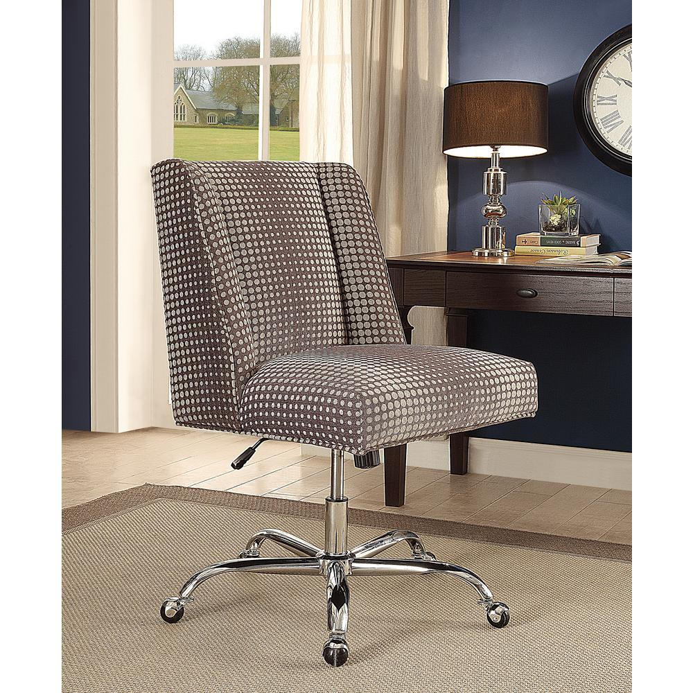 linon home decor draper office chair gray dot 178404gdot01u the home depot. Black Bedroom Furniture Sets. Home Design Ideas