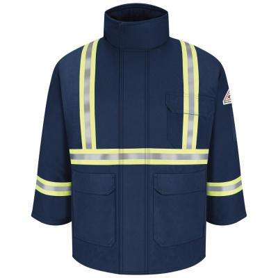 Men's Large Navy Deluxe Parka with CSA Reflective Trim