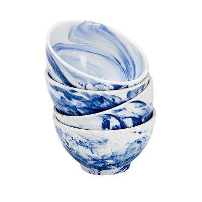 Blue Marble Bowl (Set of 4)