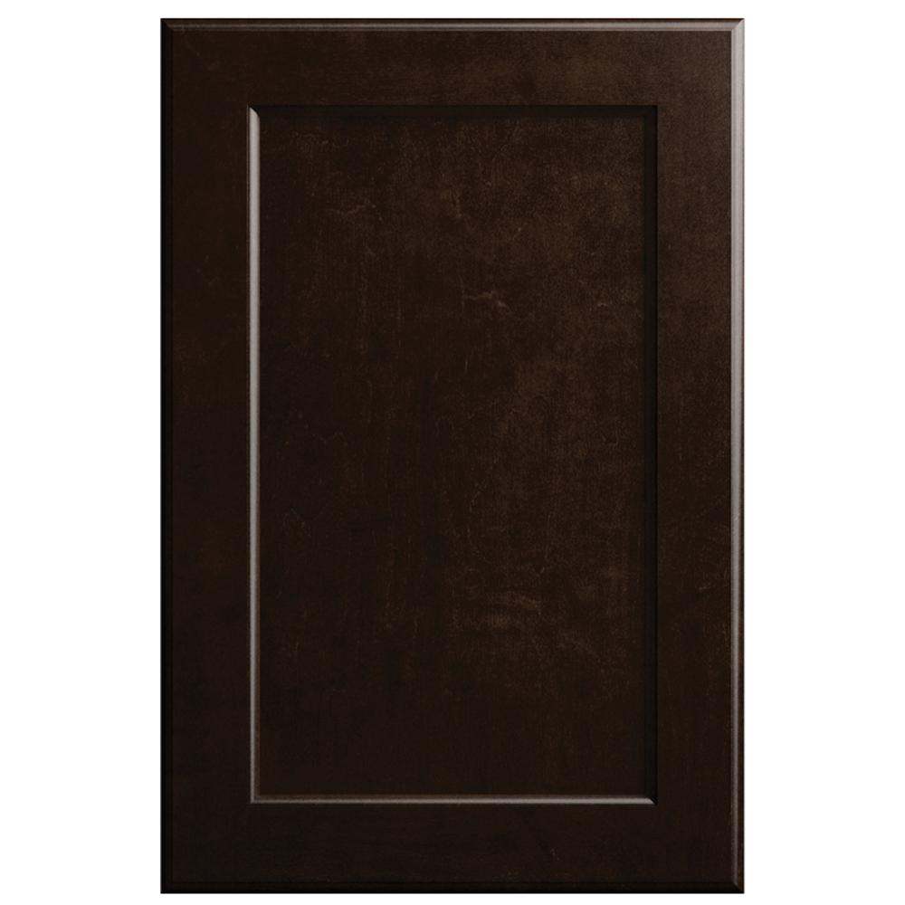 Hampton Bay Designer Series 11x15 In. Keary Cabinet Door Sample In Espresso