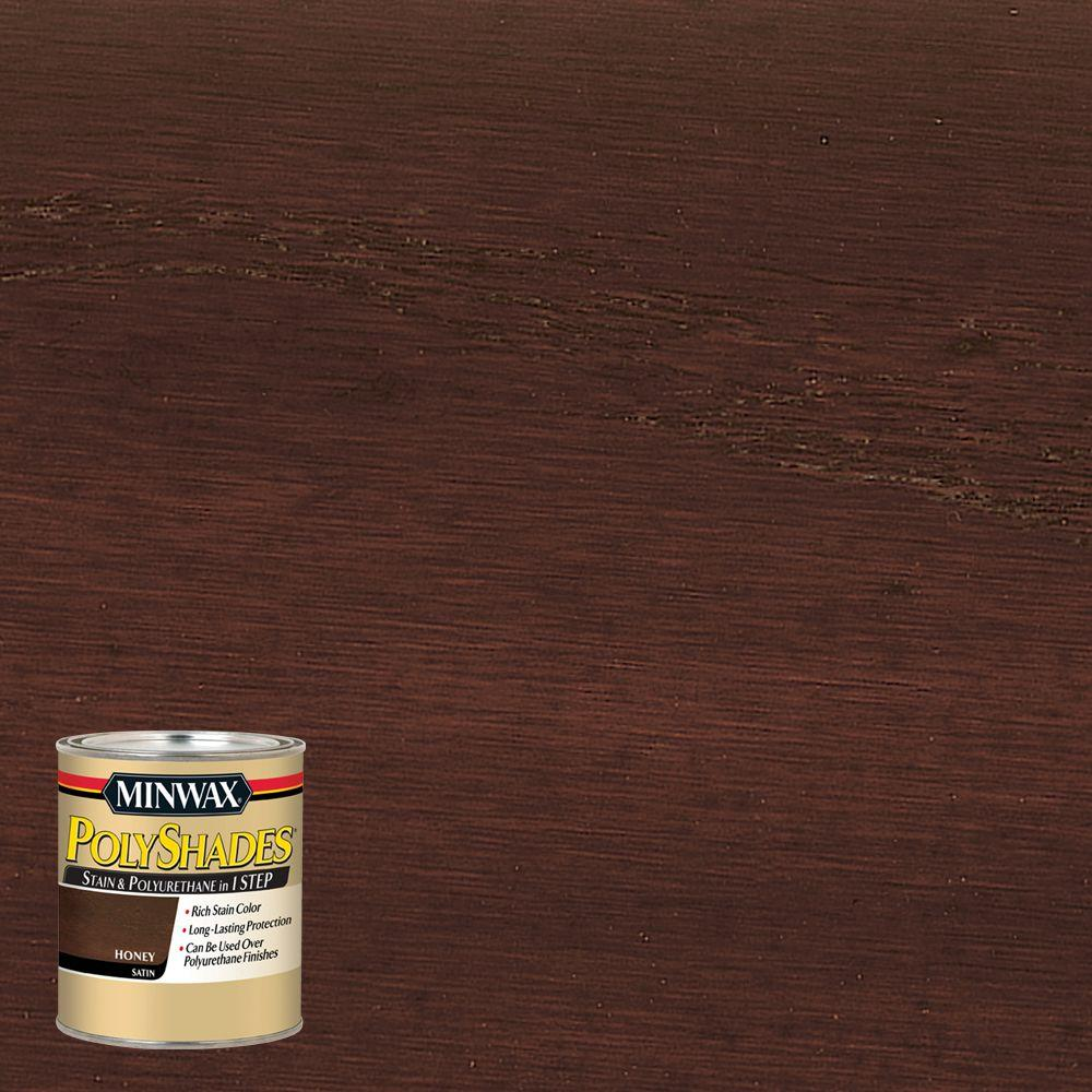 Minwax 8 oz. PolyShades Honey Satin 1-Step Stain and Polyurethane