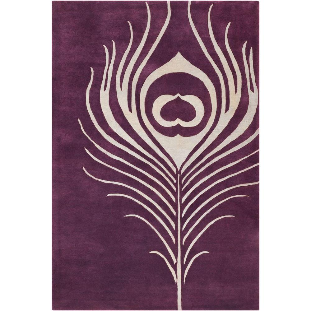 Chandra Thomaspaul Purple/Cream 7 ft. 9 in. x 10 ft. 6 in. Indoor Area Rug
