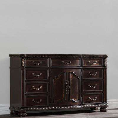 Monte Carlo 9-Drawer Rich Brown Dresser